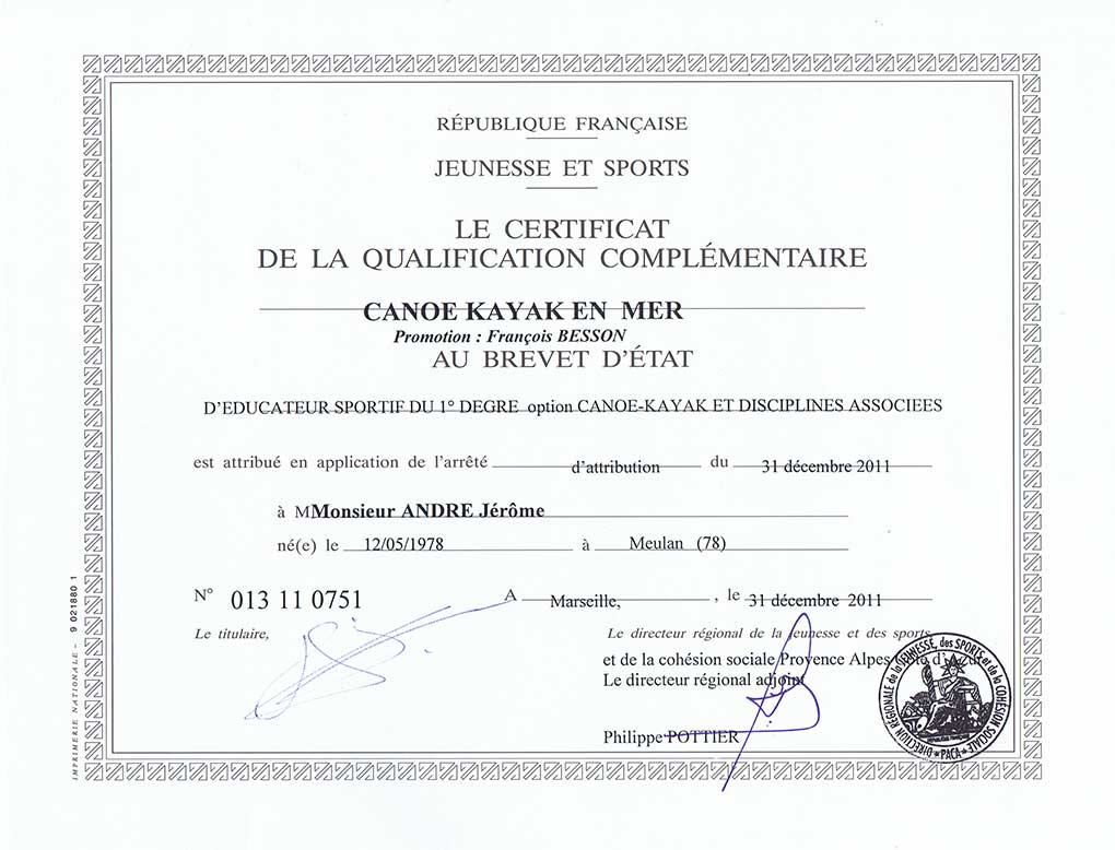 Certificat de qualification